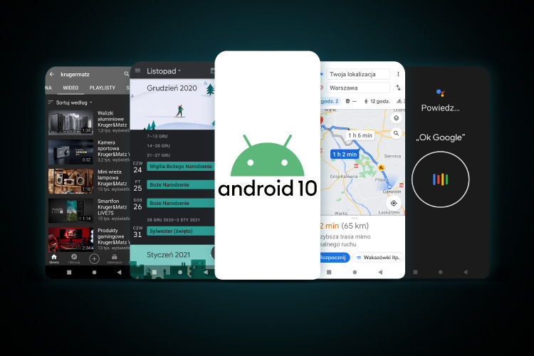 Smartfon z Android 10