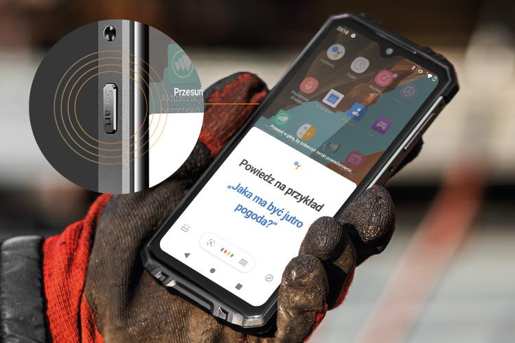 Smartfon z konfigurowalnym przyciskiem funkcyjnym