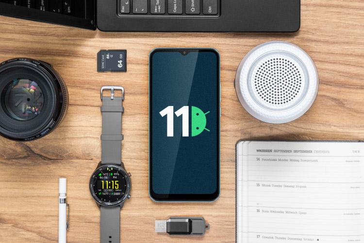 Smartfon z Androidem 11