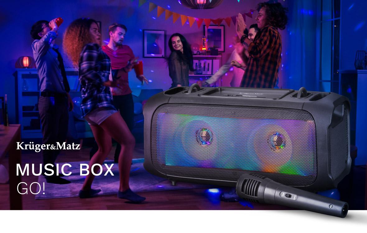 KM0559 Głośnik Bluetooth Music Box Go!