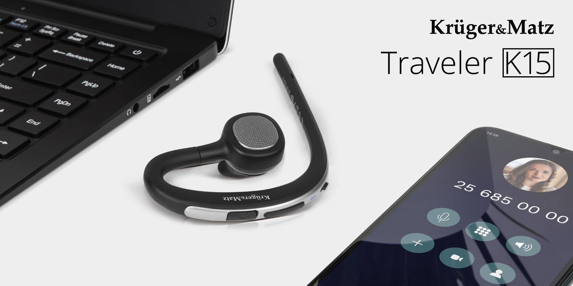Zestaw słuchawkowy do samochodu Kruger&Matz Traveler K15