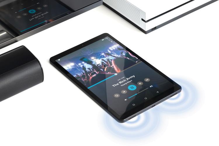 Tablet z głośnikami stereo