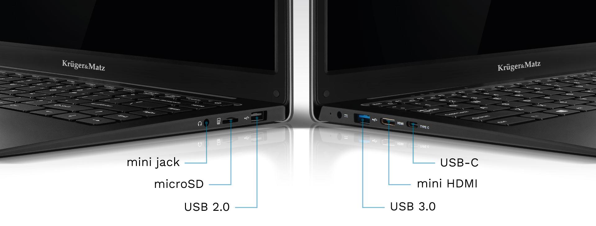Ultrabook z miniHDMI, USB C i czytnikiem kart SD