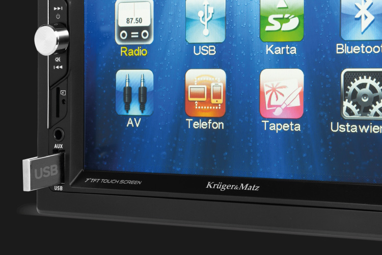 Radio samochodowe z USB, AUX, SD