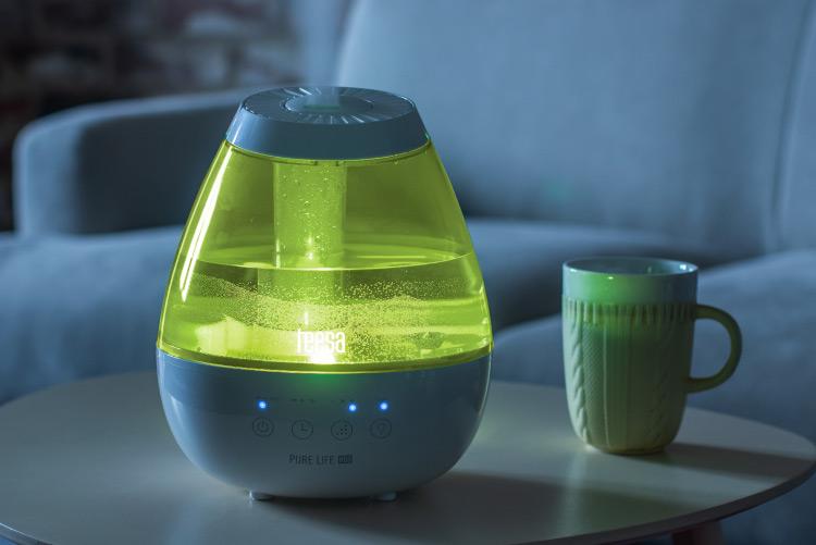 Nawilżacz powietrza z podświetleniem