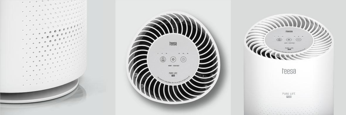 Oczyszczacz powietrza Teesa z 3-stopniowym systemem filtracji